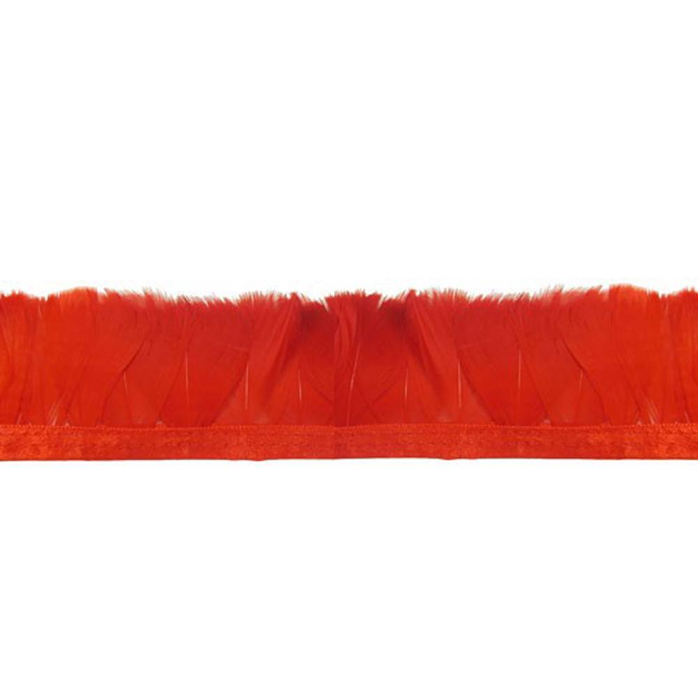 Fleco Pluma de Pato 5-6 CM rojo