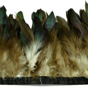 Fleco Pluma gallo 15 CM marrón y verde