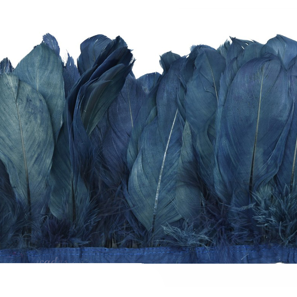 Fleco Plumas Ganso 15 cm azul marino