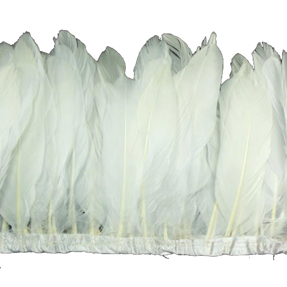 Fleco Plumas Ganso 15 cm blanco