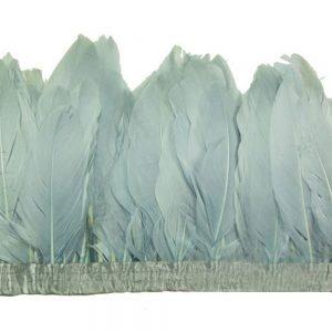 Fleco Plumas Ganso 15 cm gris plata