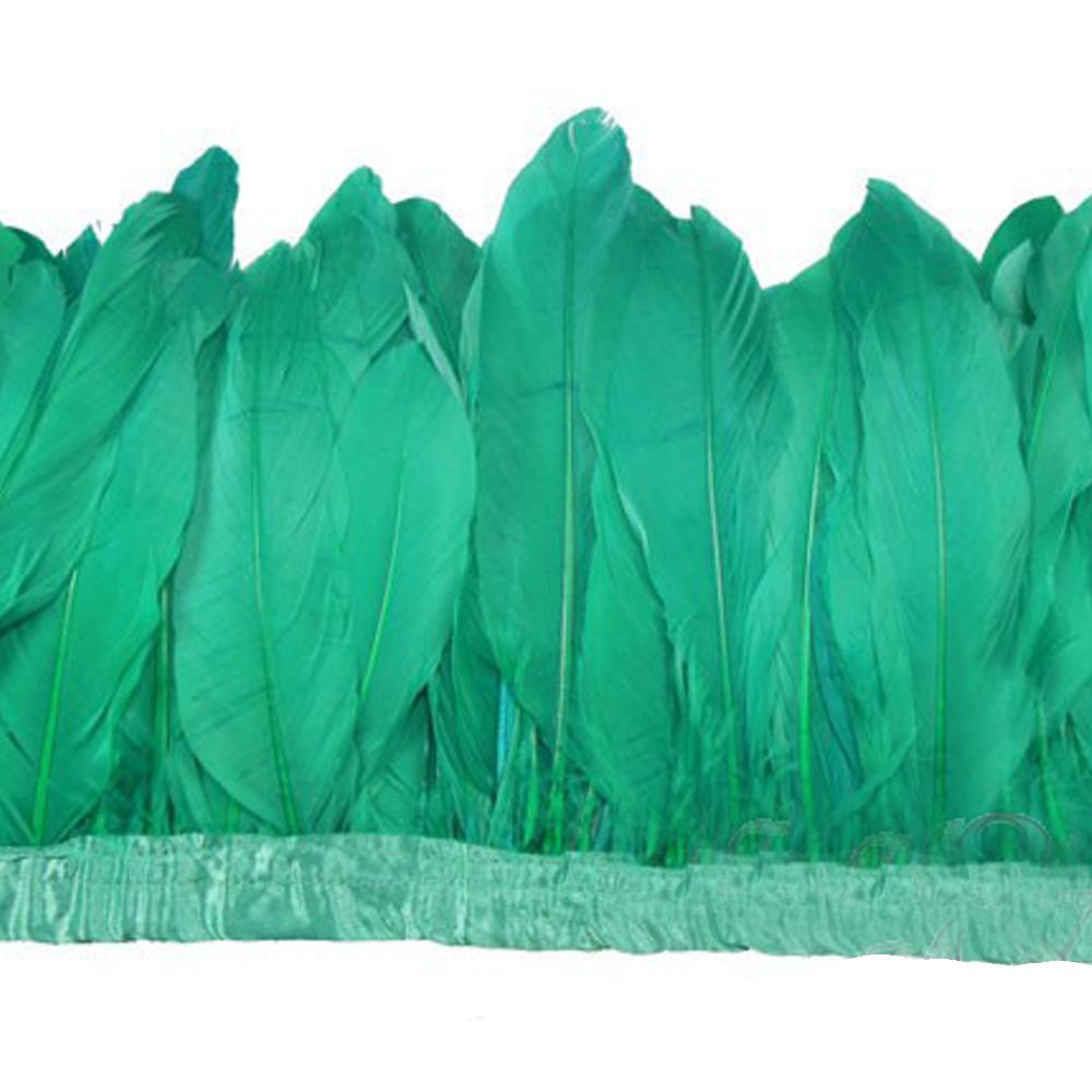 Fleco Plumas Ganso 15 cm jade
