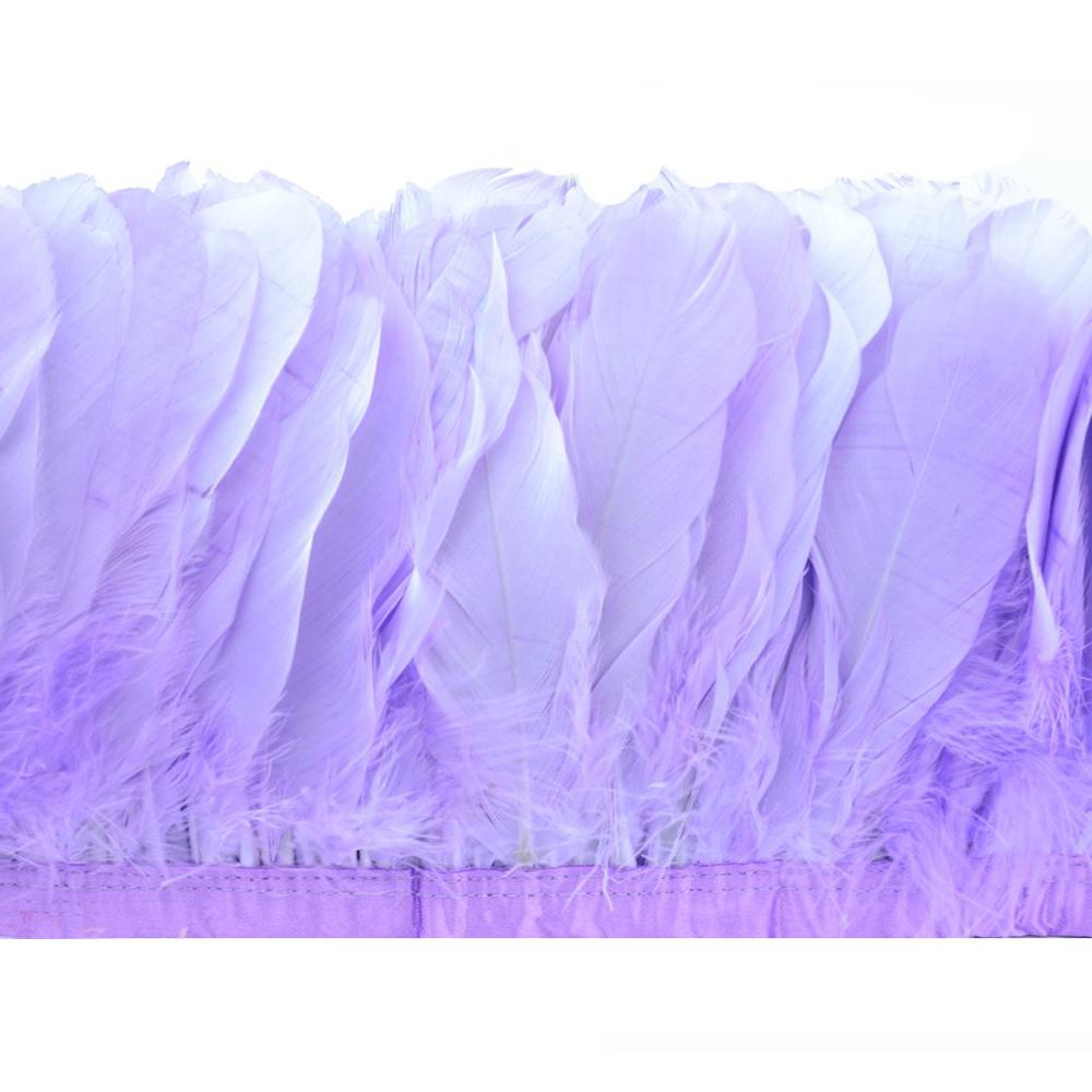 Fleco Plumas Ganso 15 cm lila