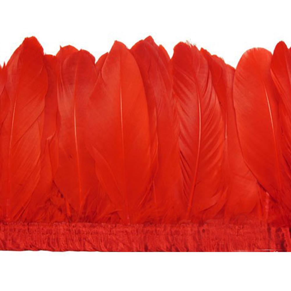 Fleco Plumas Ganso 15 cm rojo