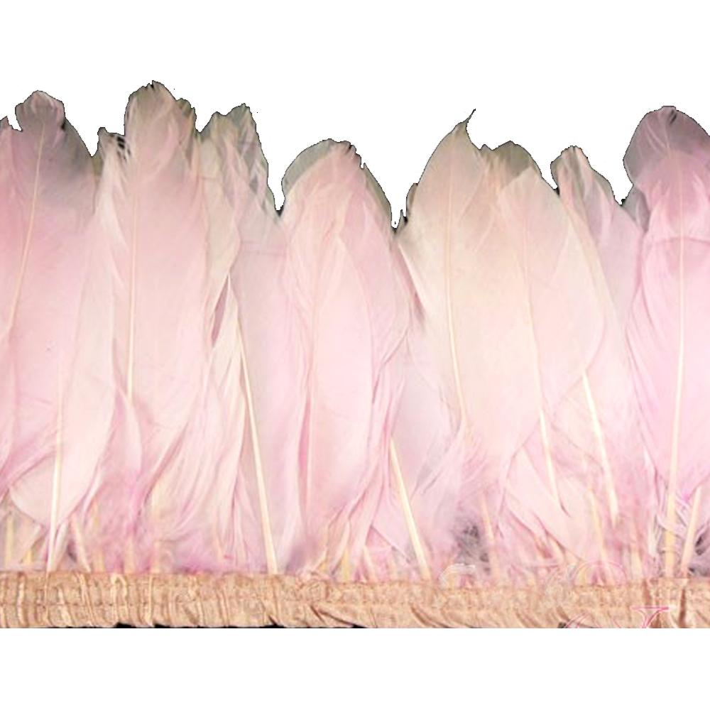 Fleco Plumas Ganso 15 cm rosa palo