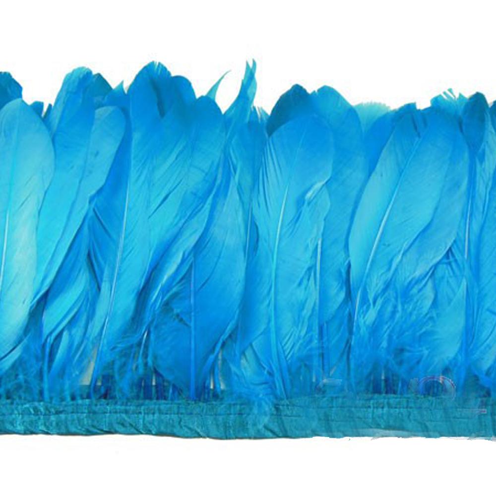 Fleco Plumas Ganso 15 cm turquesa