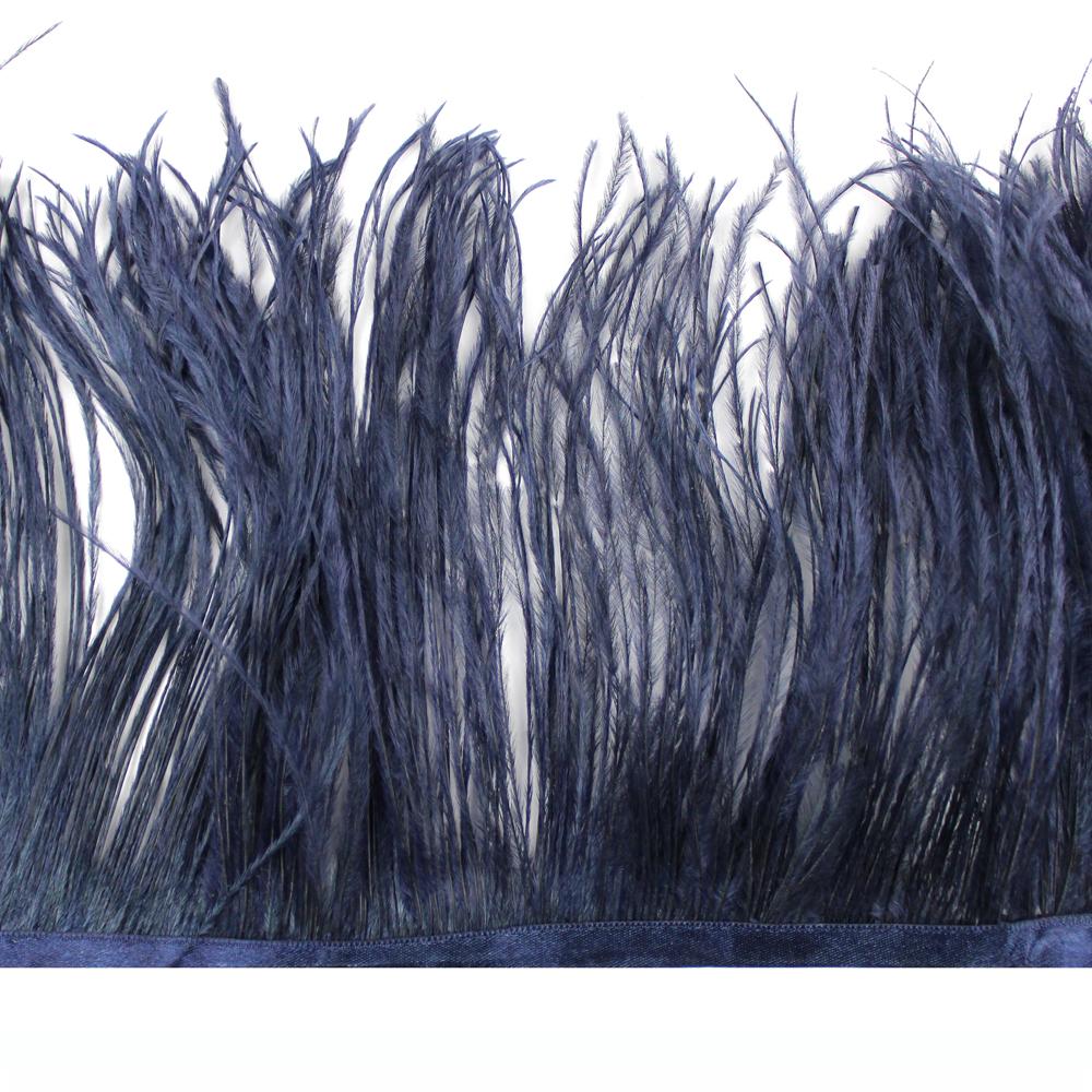 Fleco avestruz Doble capa azul marino