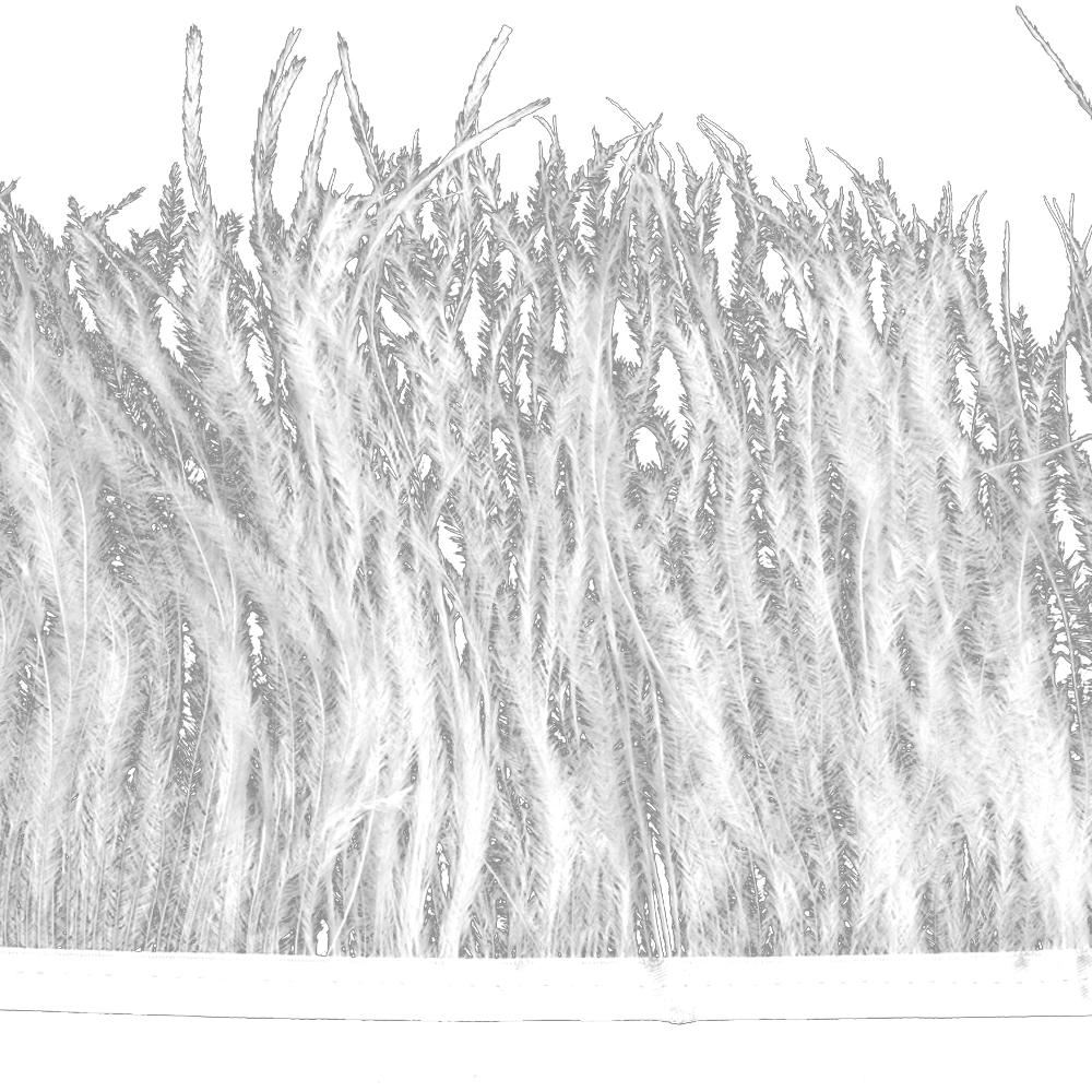 Fleco avestruz Doble capa blanco