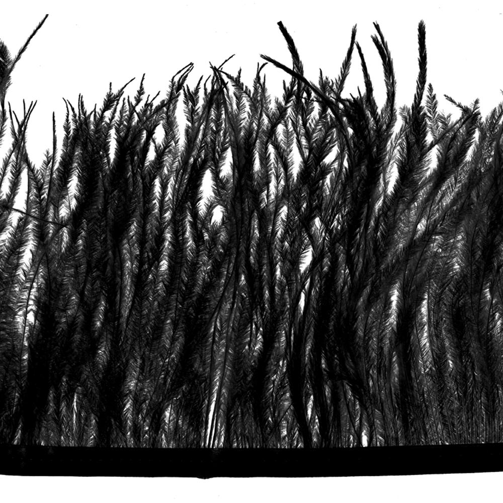Fleco avestruz Doble capa negro