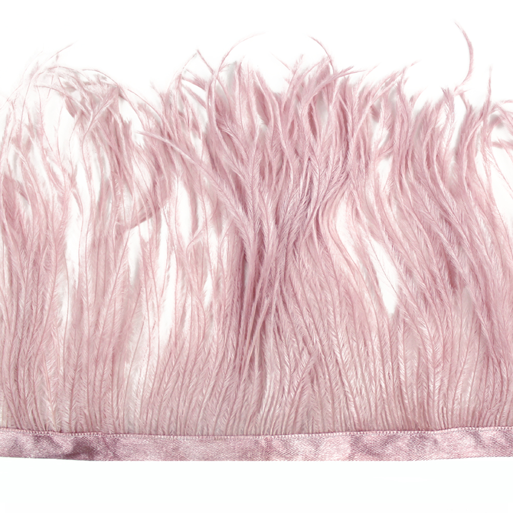 Fleco avestruz Doble capa rosa nude oscuro