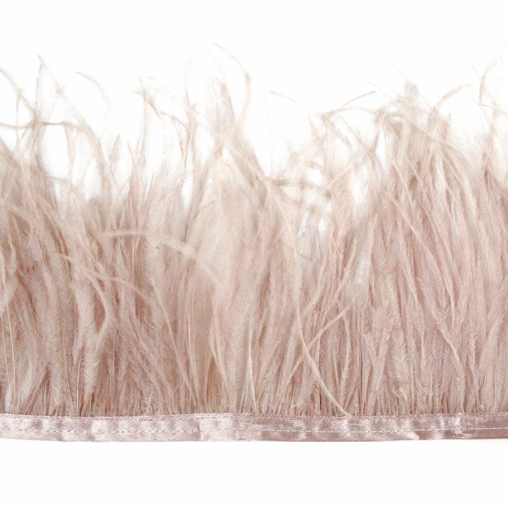 Fleco avestruz Doble capa rosa nude