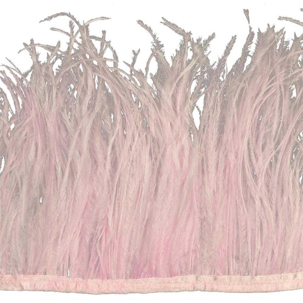 Fleco avestruz Doble capa rosa palo