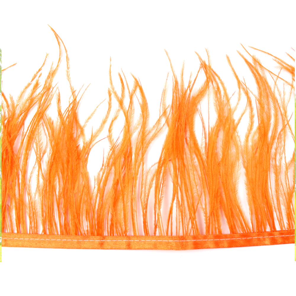 Fleco de avestruz NARANJA