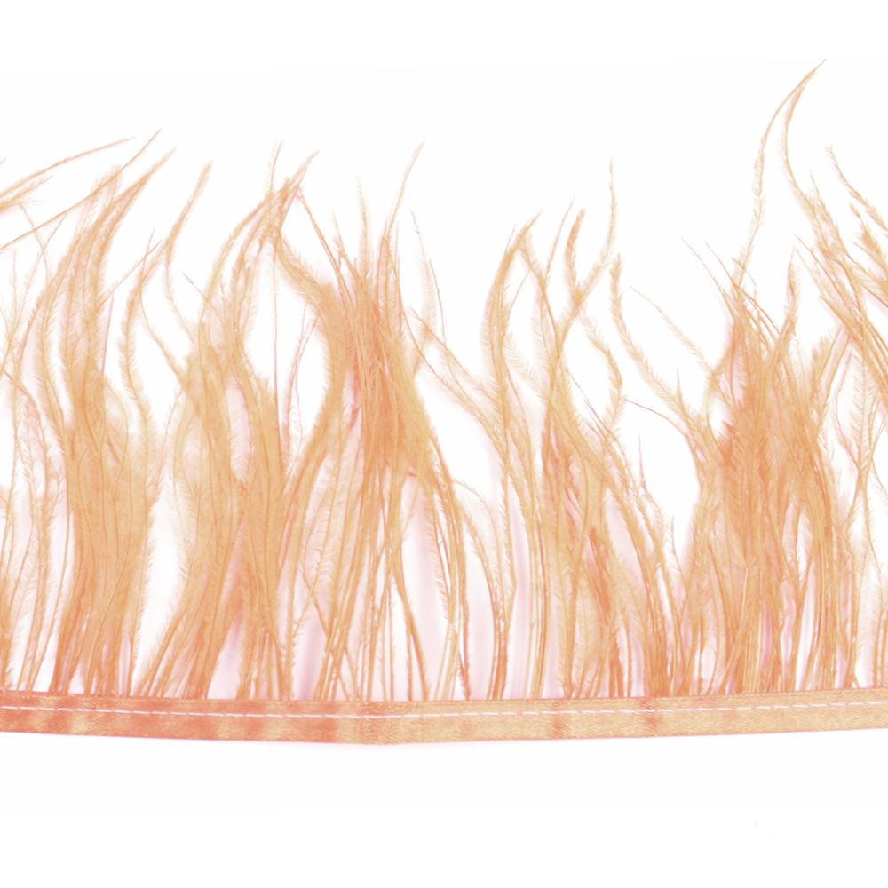 Fleco de avestruz SALMÓN
