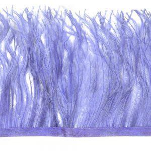 Fleco de avestruz azul claro