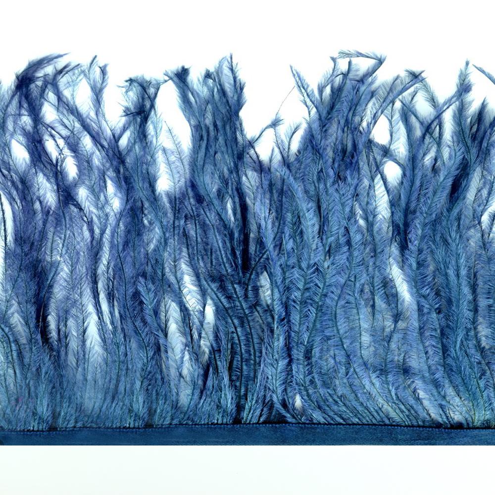 Fleco de avestruz azul marino