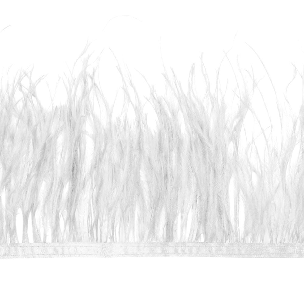 Fleco de avestruz blanco