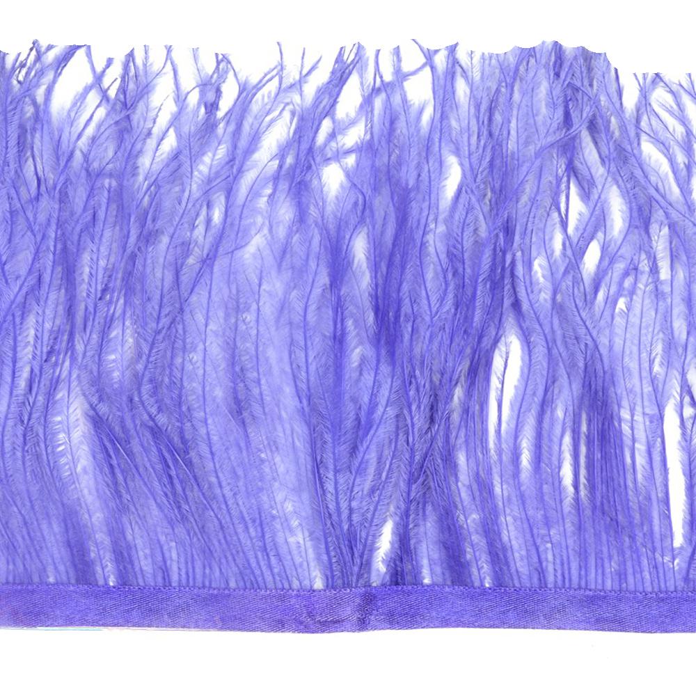 Fleco de avestruz lila