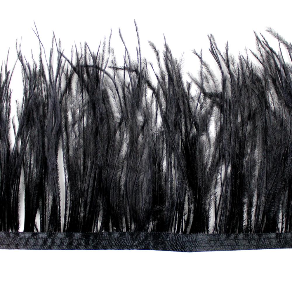 Fleco de avestruz negro