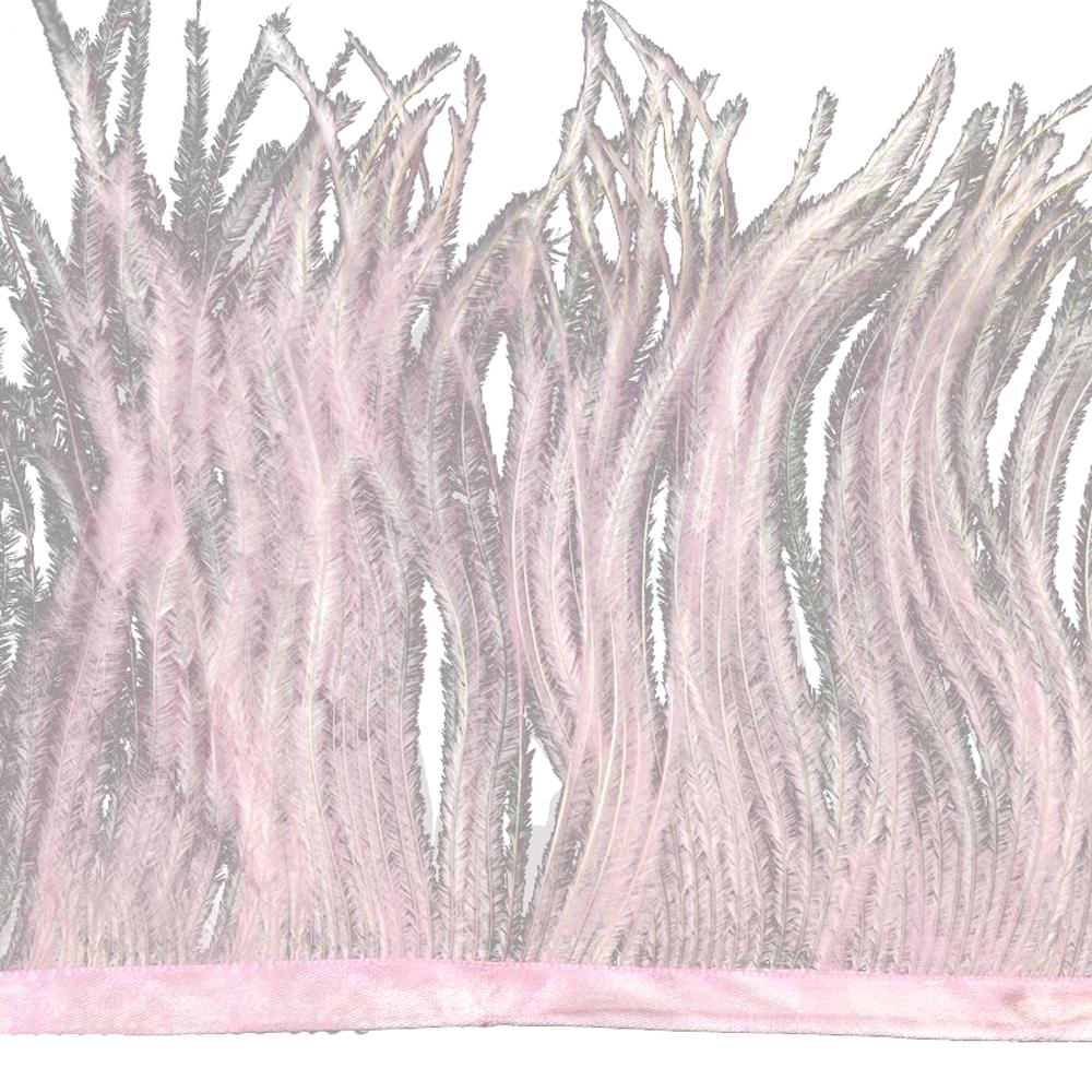 Fleco de avestruz rosa