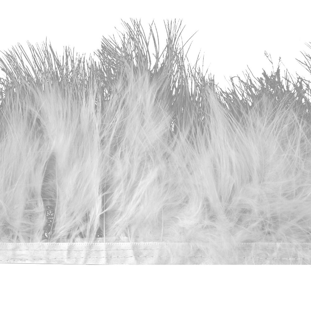 Fleco de marabú 8-10 CM blanco