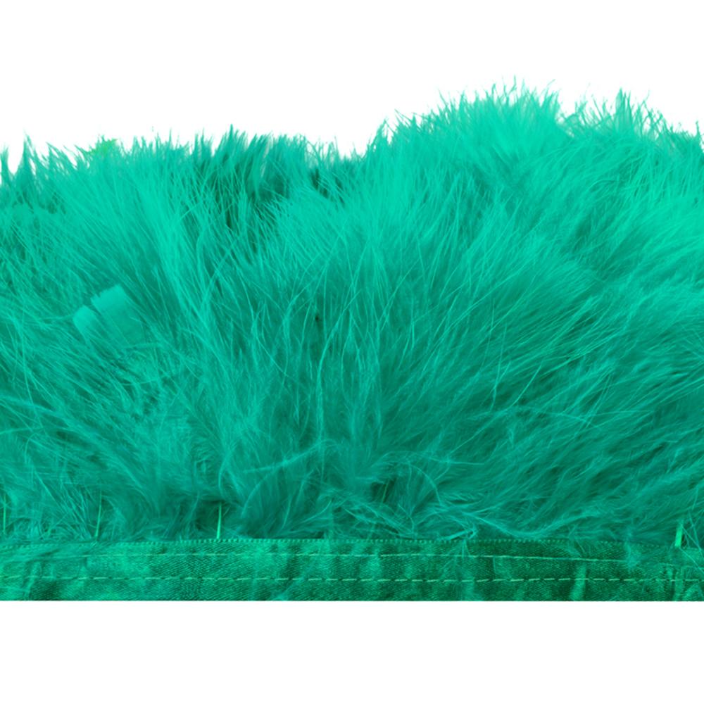 Fleco de marabú 8-10 CM jade