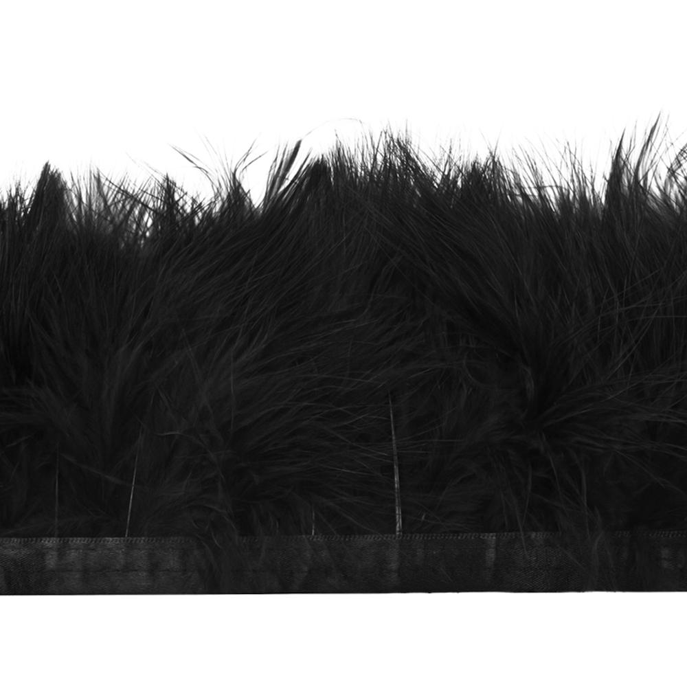 Fleco de marabú 8-10 CM negro