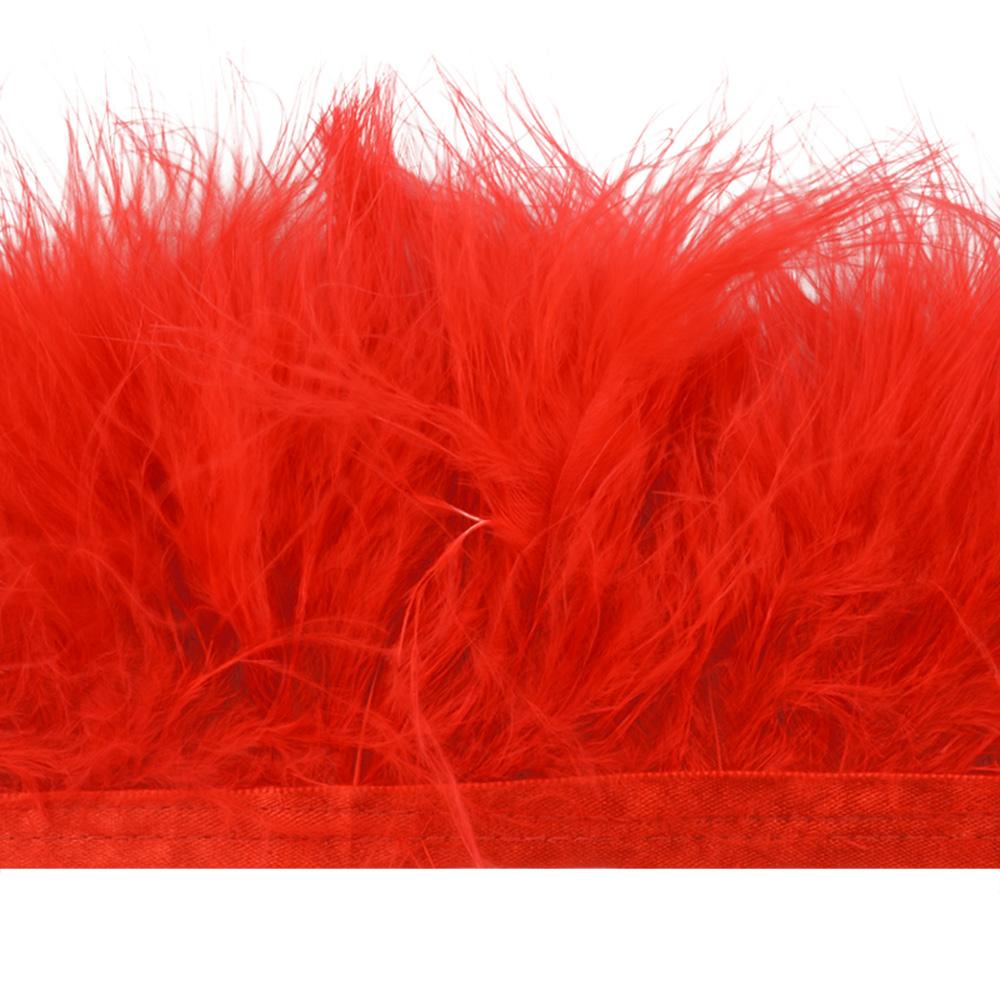 Fleco de marabú 8-10 CM rojo