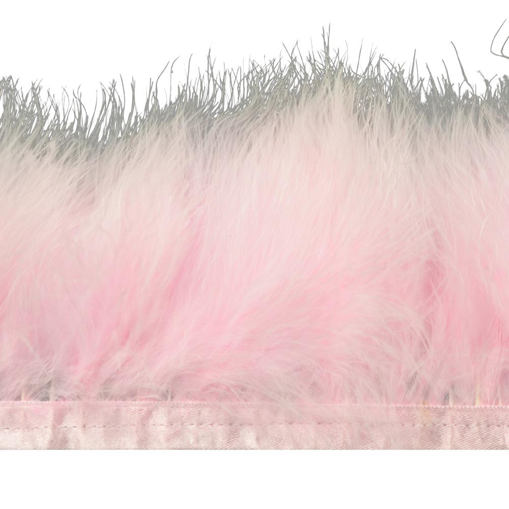 Fleco de marabú 8-10 CM rosa