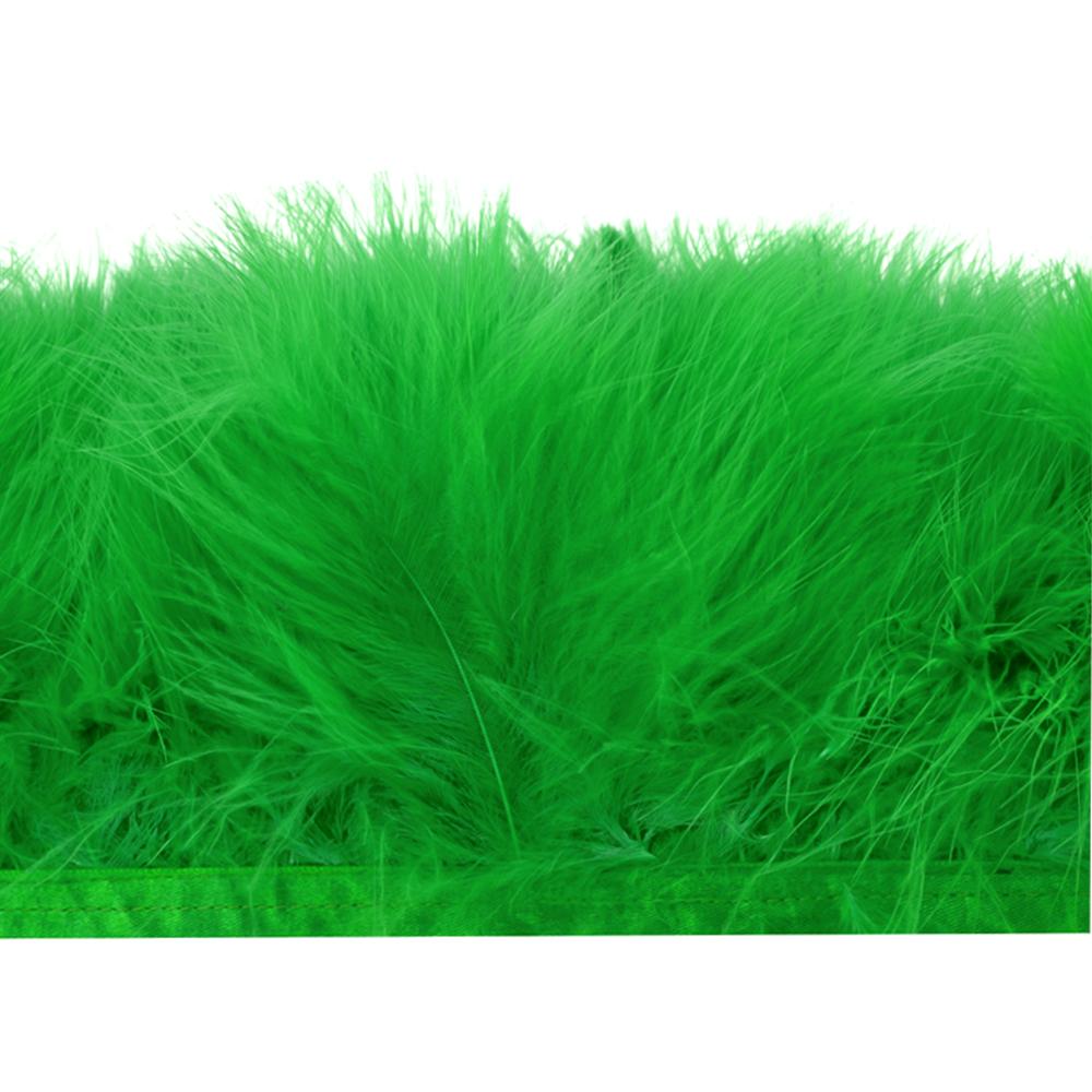 Fleco de marabú 8-10 CM verde jungla
