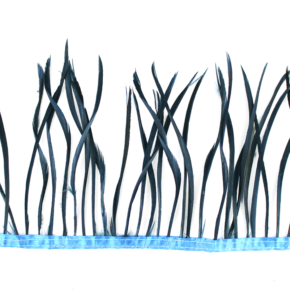 Fleco de plumas de oca azul marino