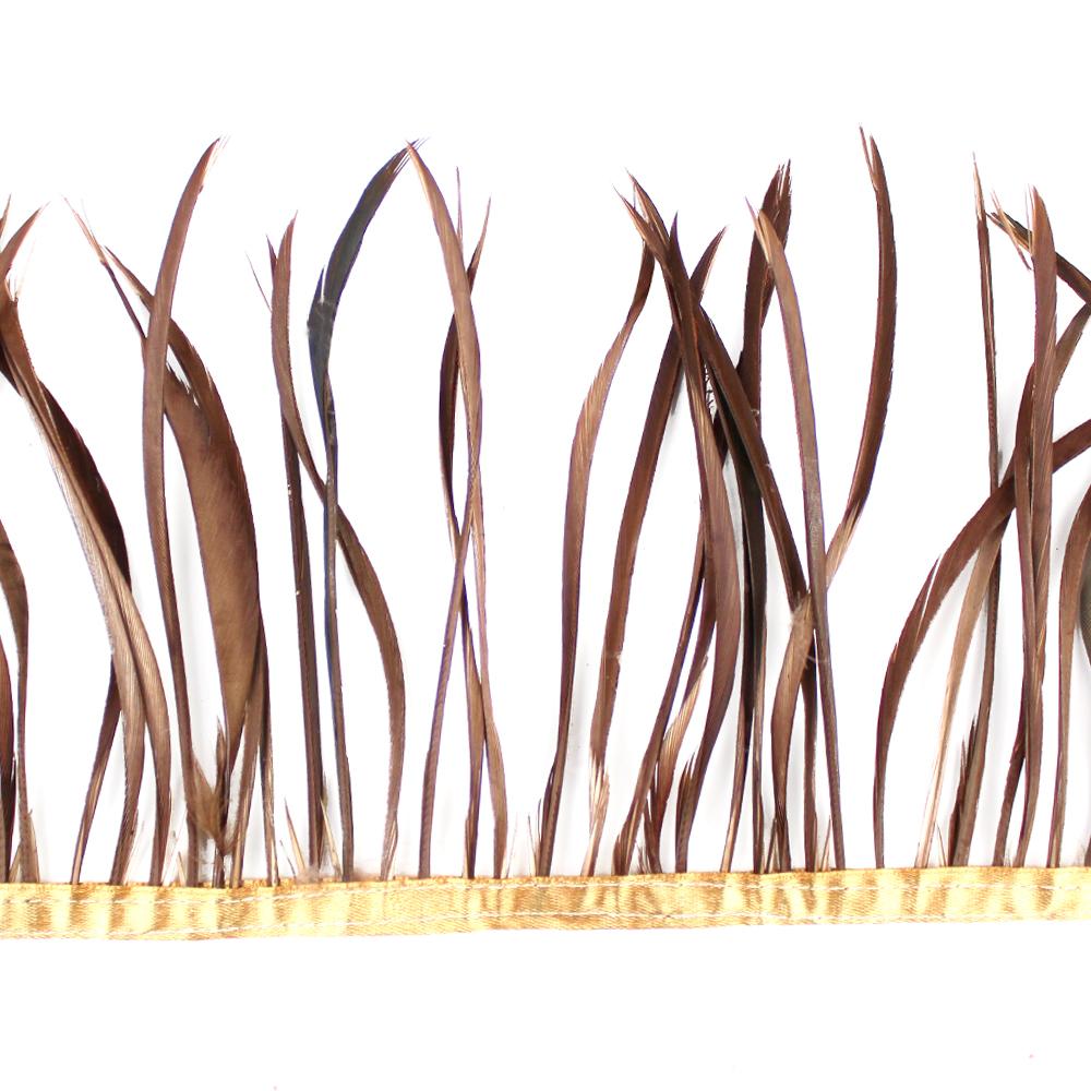 Fleco de plumas de oca chocolate