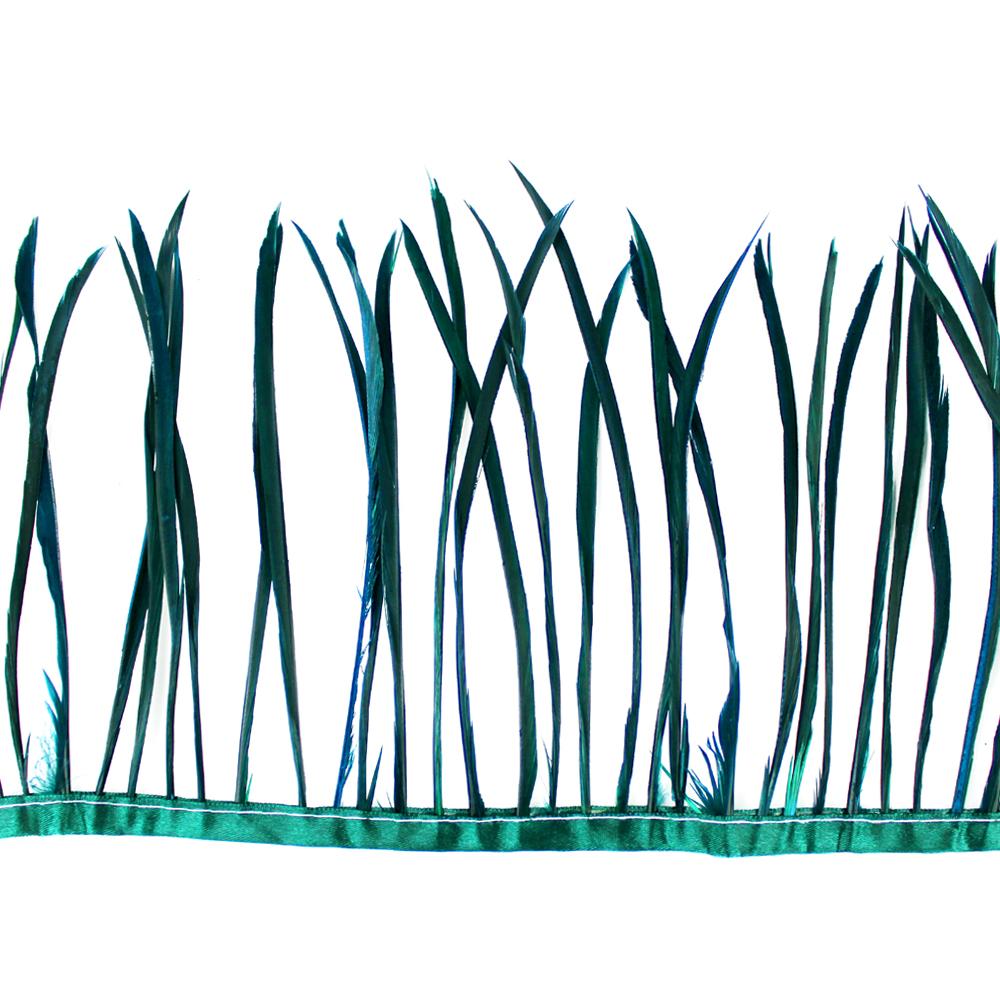 Fleco de plumas de oca verde carruaje