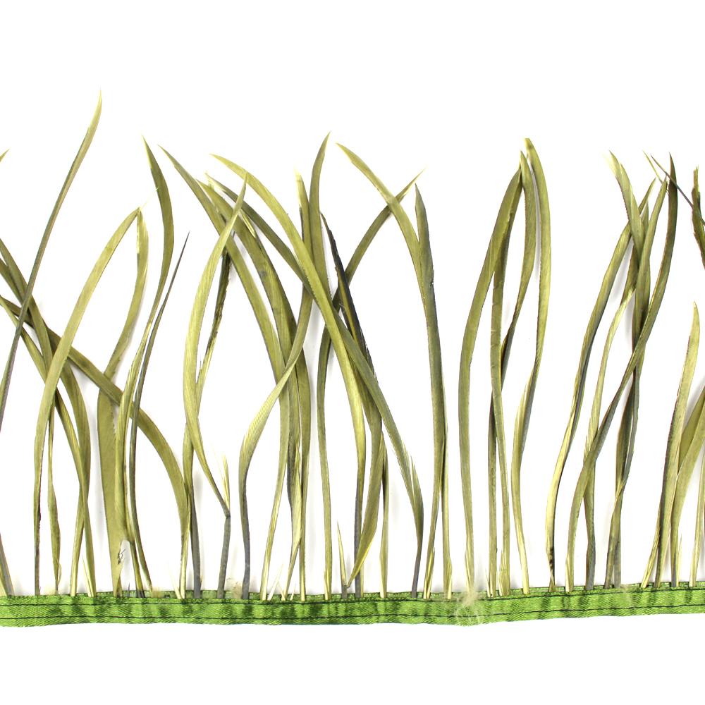 Fleco de plumas de oca verde seco