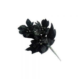 Flor Granado 16×10 cm negro
