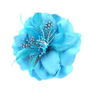 Flor Guinea 12 cm turquesa