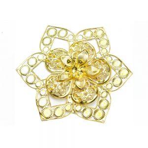 Flor Laton Estrella 10 CM oro