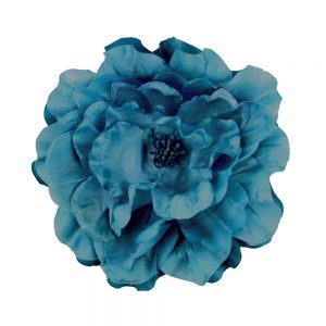 Flor Lucía 16 cm azul petróleo