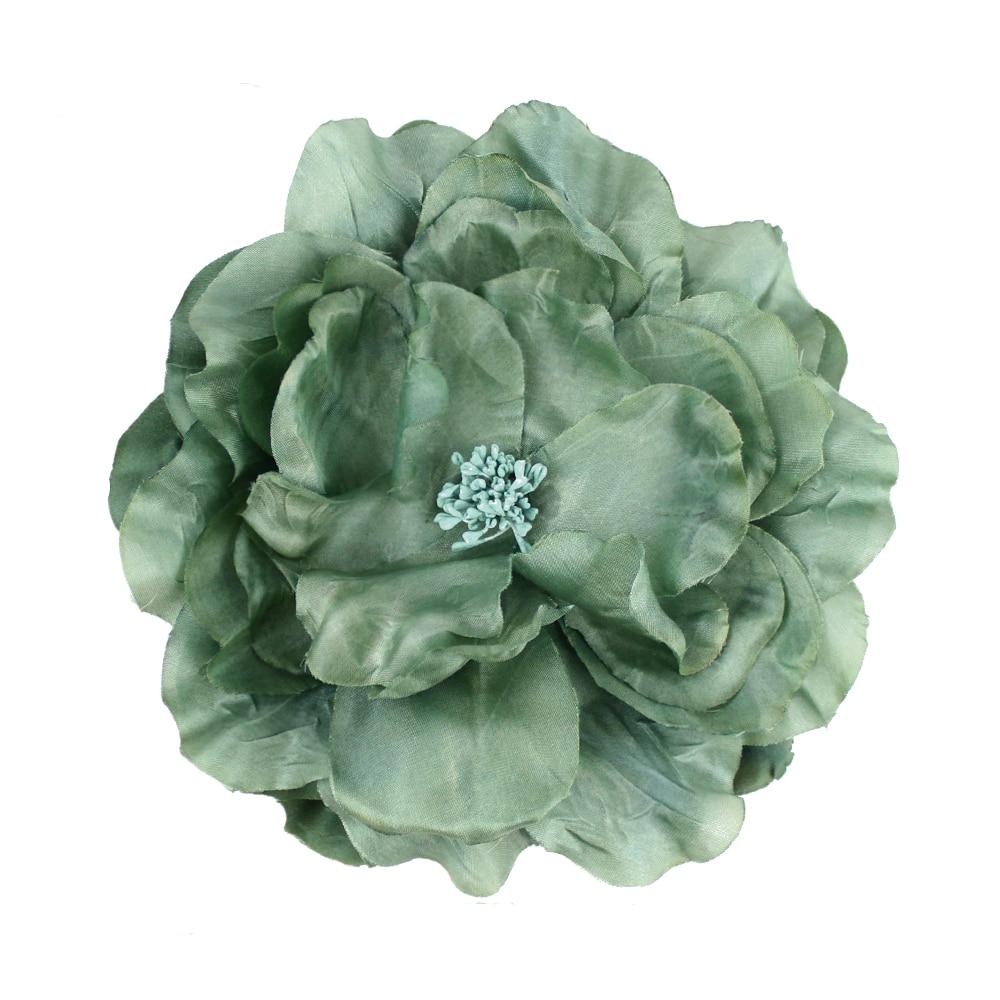 Flor Lucía 16 cm verde empolvado