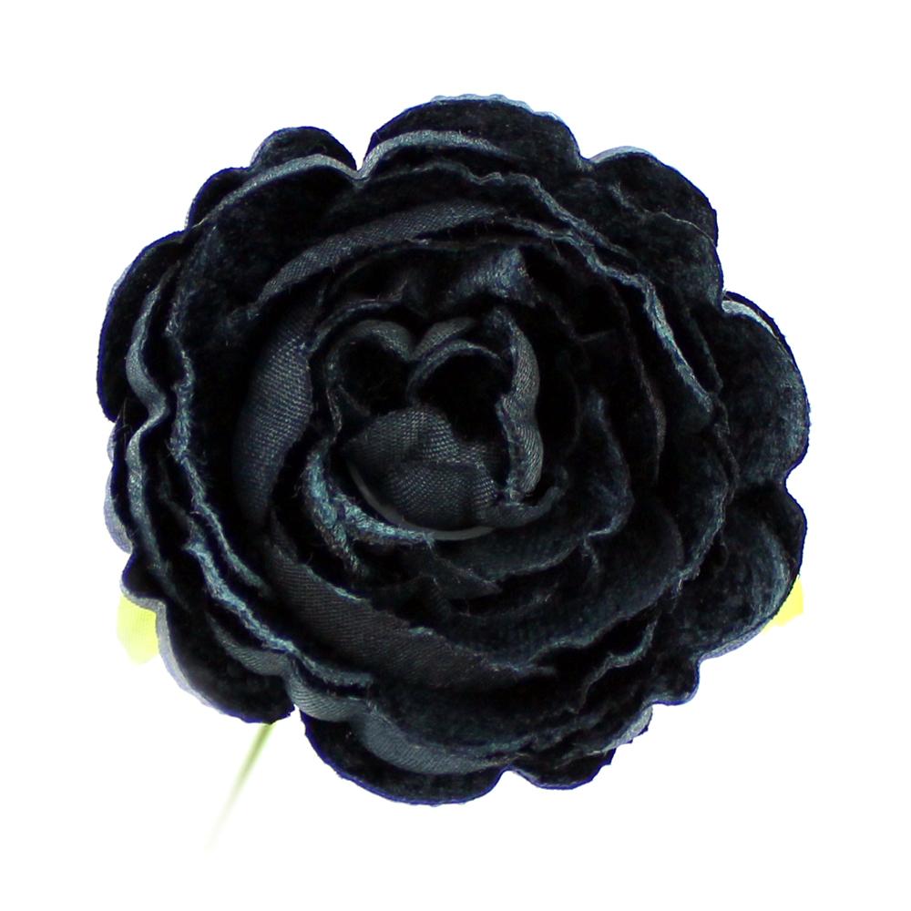 Flor Noel 7 cm gris oscuro