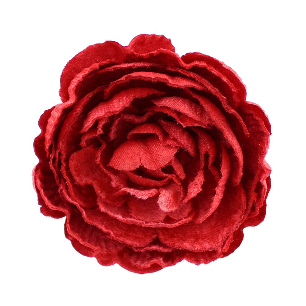 Flor Noel 7 cm rojo