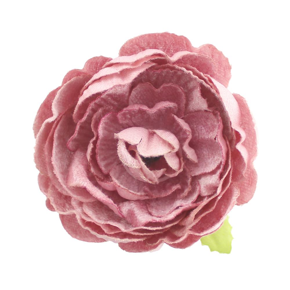 Flor Noel 7 cm rosa maquillaje
