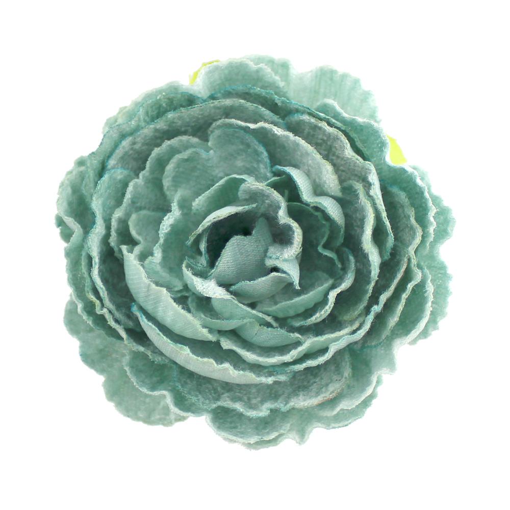 Flor Noel 7 cm verde agua