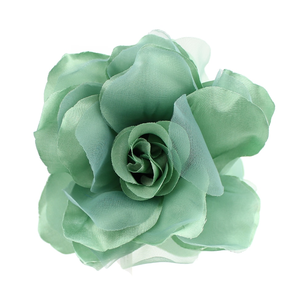 Flor Teresa 15 cm verde empolvado