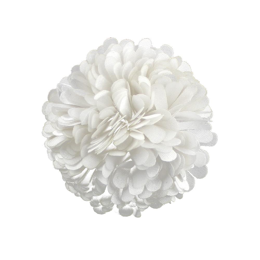 Flor clavel 6 cm blanco roto