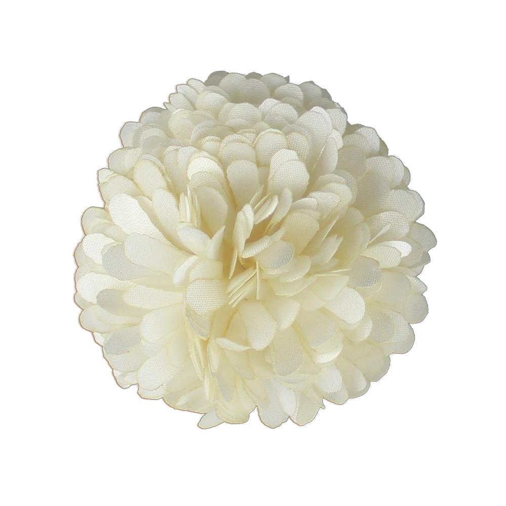 Flor clavel 6 cm crudo