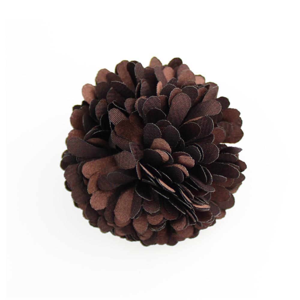 Flor clavel 6 cm marrón