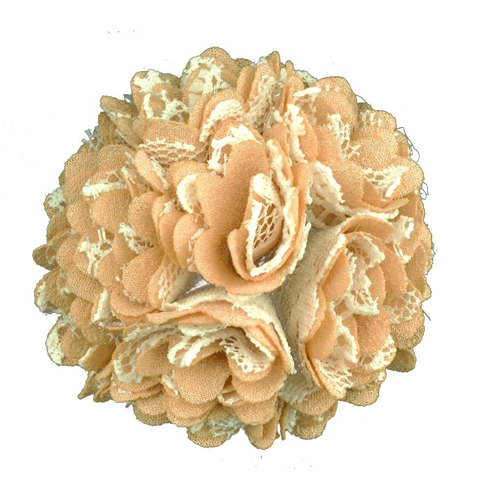Flor clavel tela camel