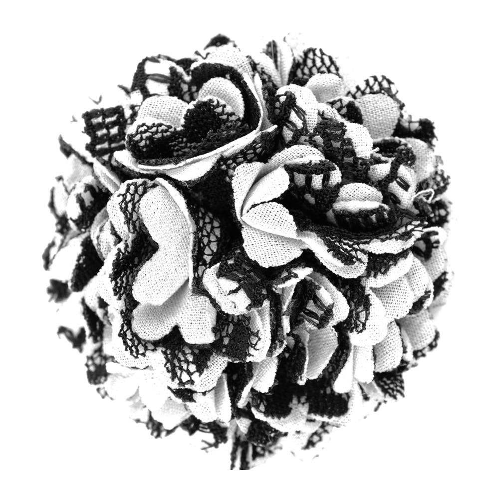 Flor clavel tela blanco