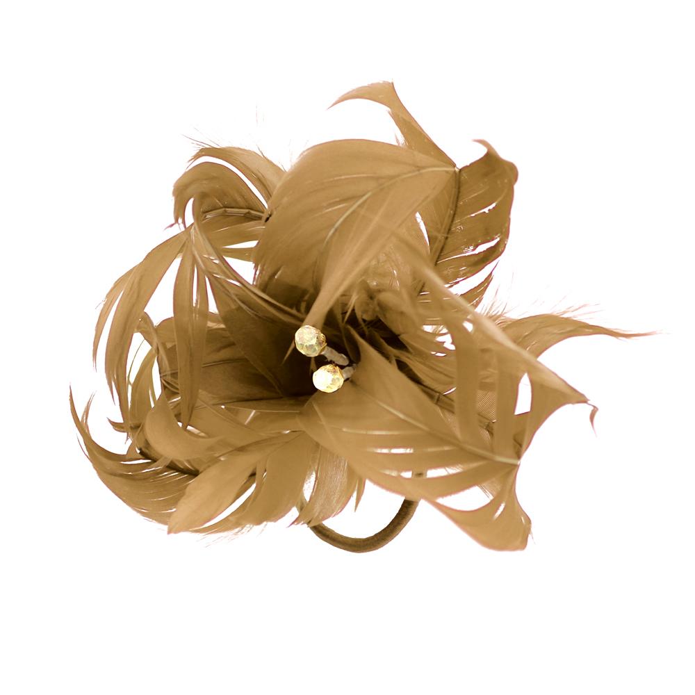 Flor de plumas camel